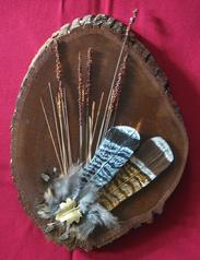 Carved Wood Grouse Feathers