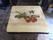 Custom Wood burning  log style tables