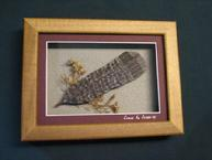 Carved Wood Grouse Feather