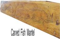 Carved Fish Mantel