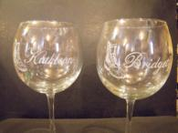 Personally Engraved Wine Glasses
