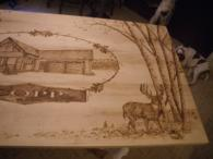 Wood Burned Table