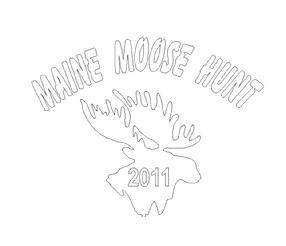Maine Moose vinyl decals
