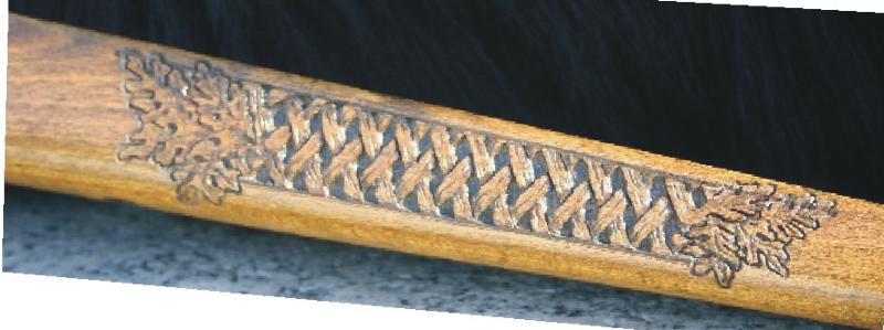 Relief Carved Gunstock and Pistol Grips